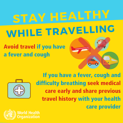 WHILE TRAVELLING: STAY HEALTHY