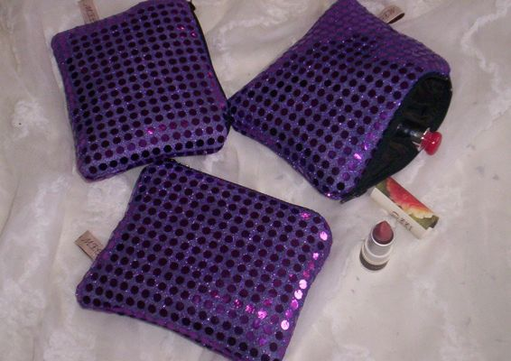 Mini trousse - Paillette Violette