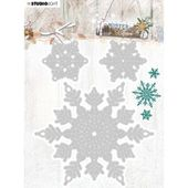 SLSTENCILWC324 : Die Winter charm n°324 - flocons FEE DU SCRAP
