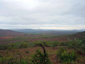 Petit aperçu du décor, sec, nuages menaçants mais la pluie est toujours absente et l'Afrique du Sud subit une très dure sécheresse depuis 2 ans
