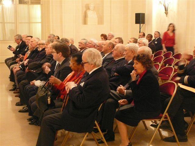 Voeux communs du président national de l'UGF Stéphane Galardini et du président du Comité de la Flamme, le Général Cuche au Sénat avec le Sénateur-Maire Bruno Gilles