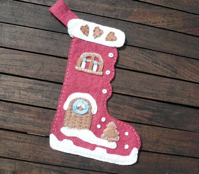 Bottes de Noël en feutrine