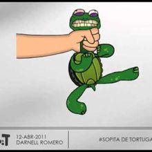 sopita de tortuga - prueba animada 3D flash