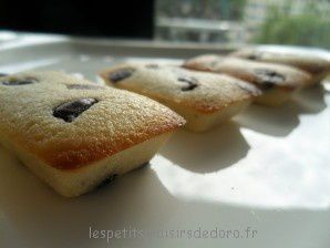 MINI FINANCIERS CITRON PEPITES DE CHOCOLAT