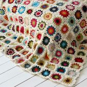 Couverture au crochet Sunburst