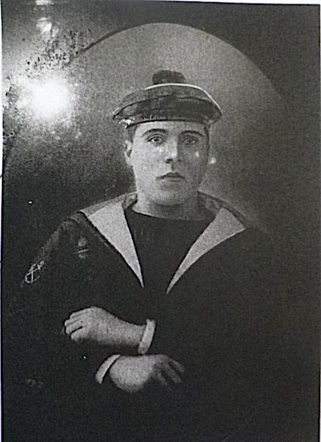 Jean Toussaint Demartini timonier (entre 1909 et 1912). Photo fournie par la famille PRINCE.