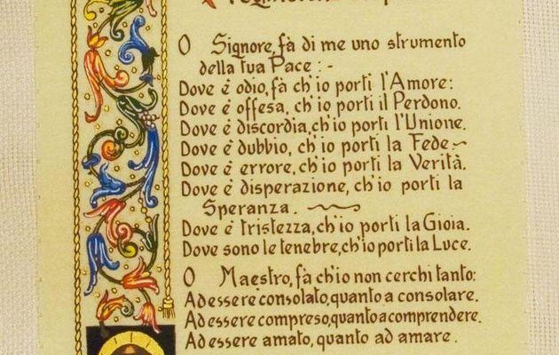 Preghiera di San Francesco d'Assisi...