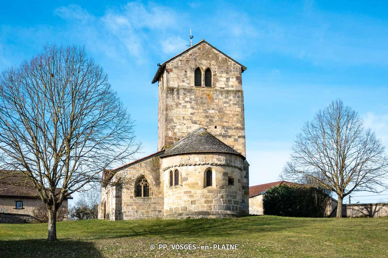 DOMPAIRE, l'église St-Jean-Baptiste de LAVIÉVILLE