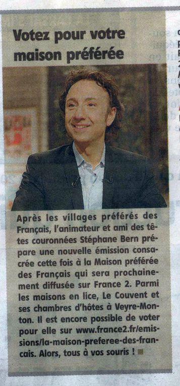Tournage France2 - la maison préférée des français 2013
