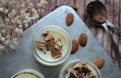 Crème dessert miel amandes