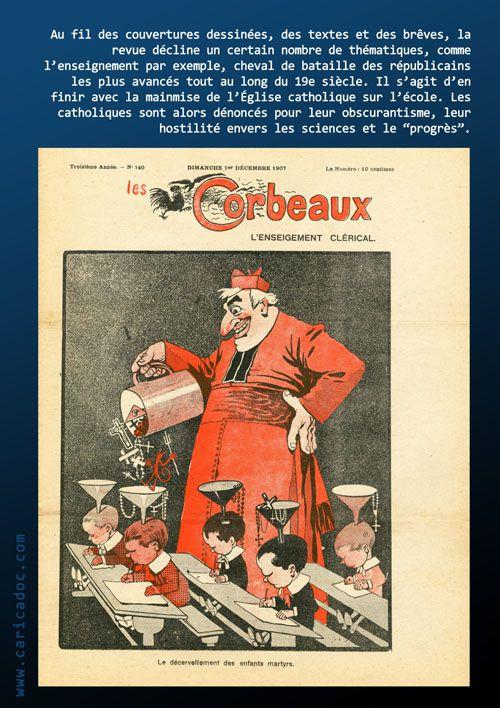 """""""Les Corbeaux, une revue antilcléricale Belle Époque"""" : exposition itinérante à louer"""