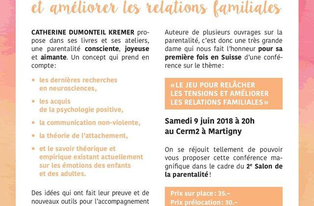 """""""Le jeu pour relâcher les tensions"""" conférence à Martigny, Suisse, le 9 juin 20h"""