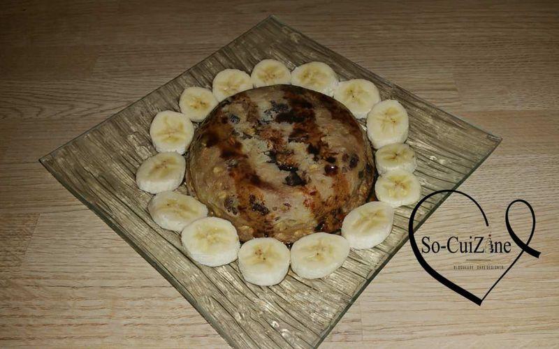 Bowl cake banane-raisin