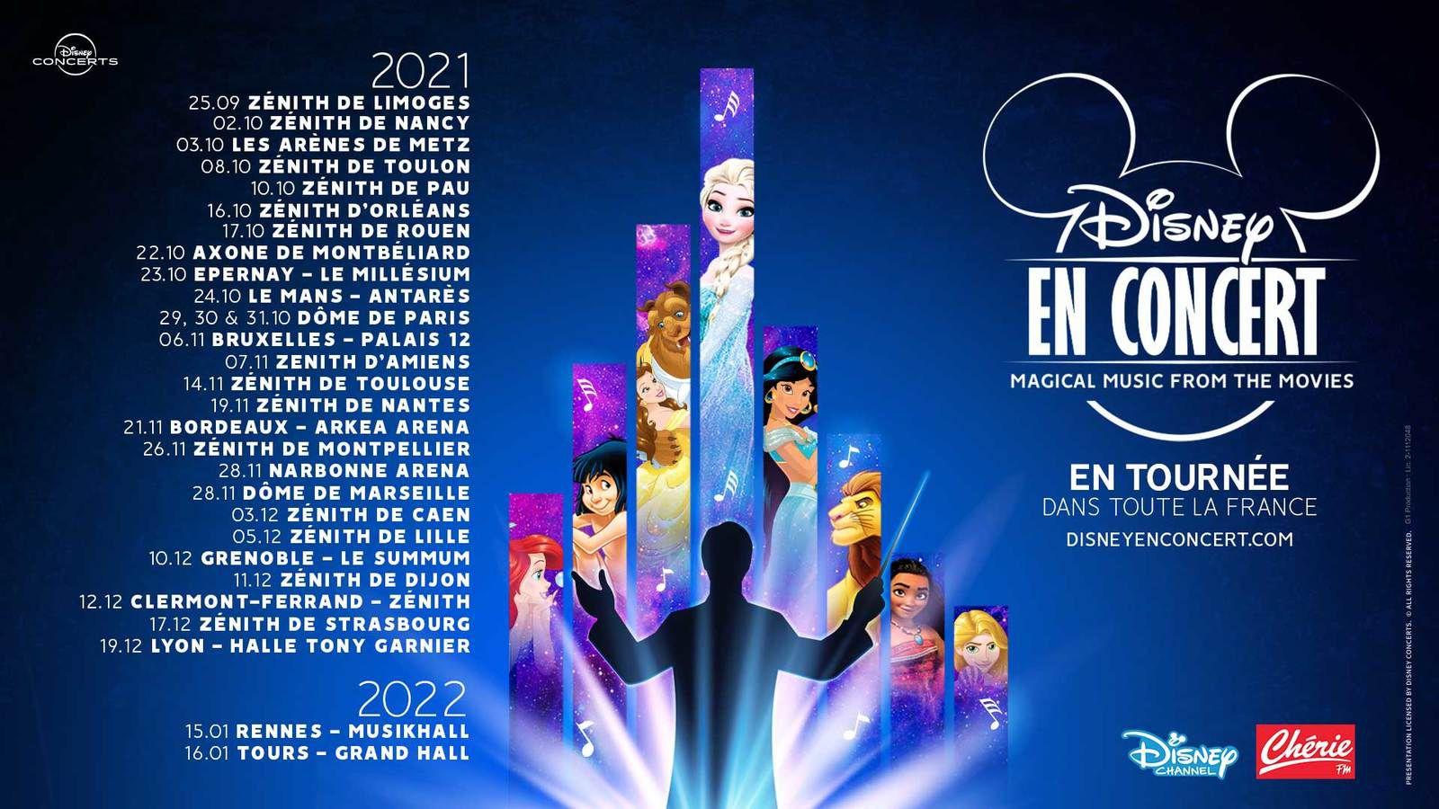 La magie de Disney en Ciné-Concerts : Nouvelle partition dès le 25 septembre 2021 en tournée dans toutes la France