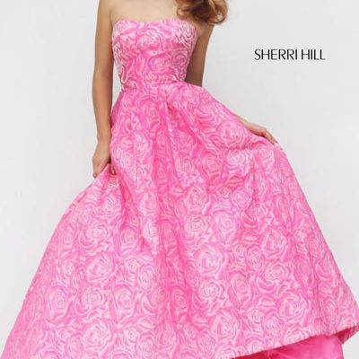 Sherri Hill 50436 Evening Gown With Pink 2018