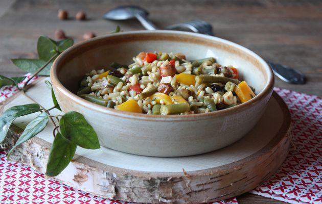 Pour vous réchauffer en période de grand froid, agitez vous les casseroles et mangez de l'avoine aux petits légumes, noisettes et raisins (vegan)
