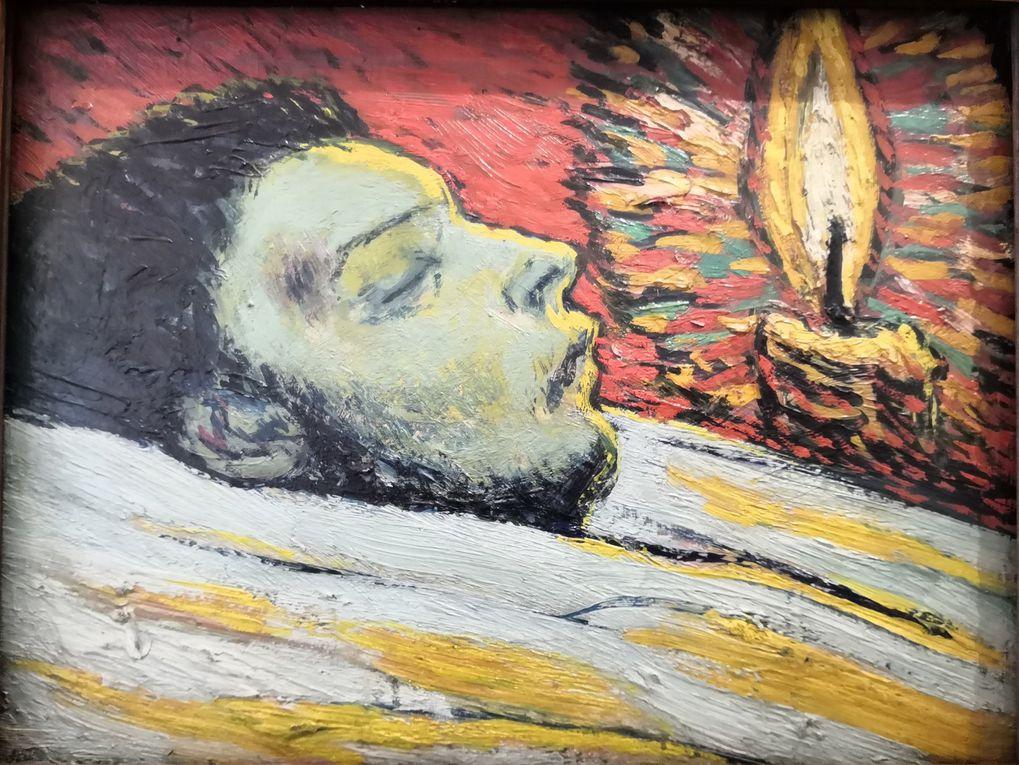 Pablo Picasso, la Mort de Casagemas, Paris, été 1901, Huile sur bois, Musée national Picasso-Paris