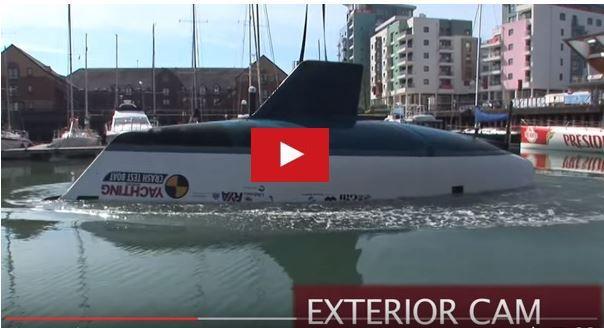 VIDEO - simulation du retournement d'un voilier