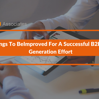 2 Things To Be Improved For A Successful B2B Lead Generation Effort