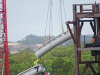 Le chantier de Tron Lightcycle Power Run àWalt Disney World