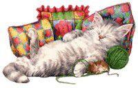 Yourte pour chat au crochet