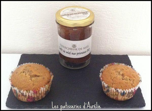 Muffins confit de miel aux pruneaux