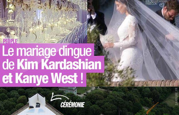 Le mariage dingue de Kim Kardashian et Kanye West ! #KimYeWedding