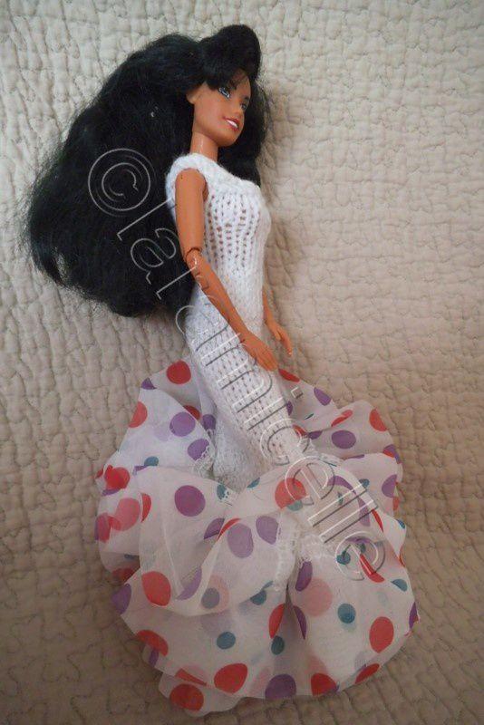 tuto gratuit barbie: robe fourreau avec base volantée