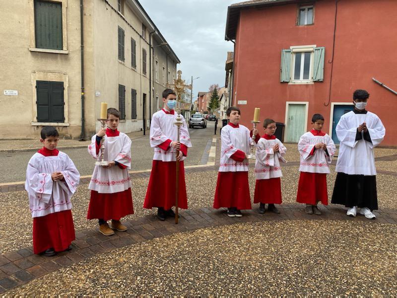 2e dimanche de Paques 2021 - Année B - Photos du Baptême et 1ère Communion de Luna COSTE-PAUL et de la 1ère communion Tancrède CHAUSSAT