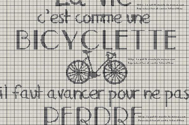 Grilles gratuites : La vie c'est comme une bicyclette