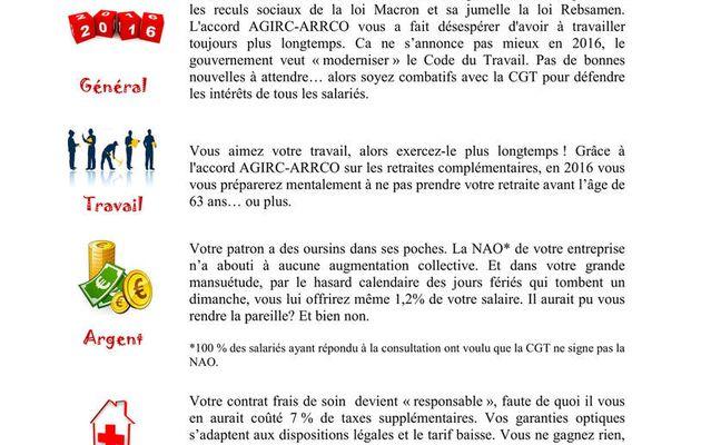 L'horoscope de la CGT Groupama Grand Est - Informés avisés, indignés en 2016, adhérez à la CGT