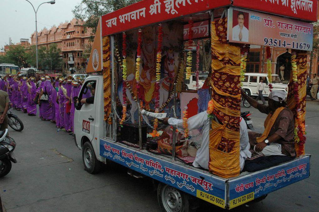 Réunion Politique en Inde et manifestation.