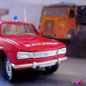 PEUGEOT 504 BREAK CENTRE DE SECOURS DEPARTEMENTAL DE HAUTE CORSE SOLIDO 1/43 - car-collector.net