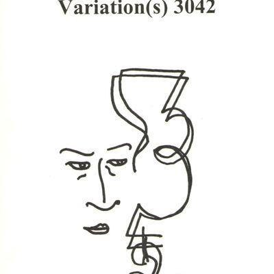 Parution de Variation(s) 3042 où j'écris à la rencontre de l'univers d'Alain Bashung...