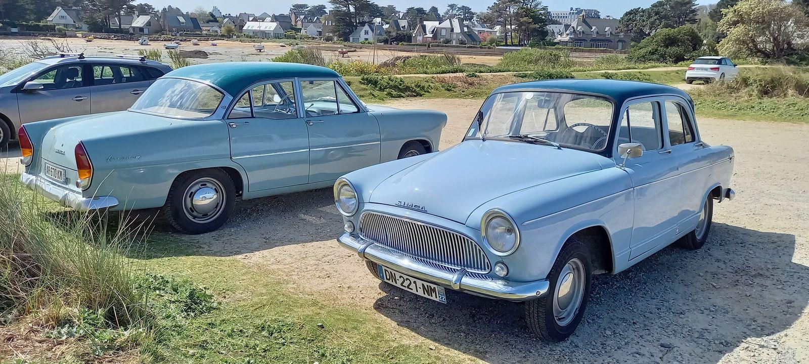 De belles SIMCA d'époque (années 60) pour finir sur (encore) des belles bleues !