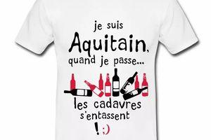 T Shirt Aquitaine blanc homme Aquitain quand je passe