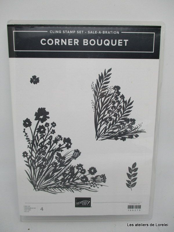 "Set de tampon ""corner bouquet"""