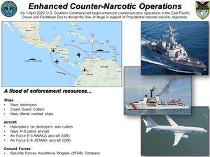 """Déploiement des nouveaux moyens de l'USN et de l'USCG de part et d'autre du """" Bouchon du Darién """" et routes martitimes des """" narco-submarines """" référencées en 2016 ."""