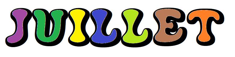 Les Mois de l'Année 2 : Juillet [Affichage][Coloriage][Maternelle][CP]