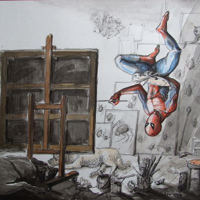 L'atelier du peintre 5 - Dessin figuratif - Spiderman