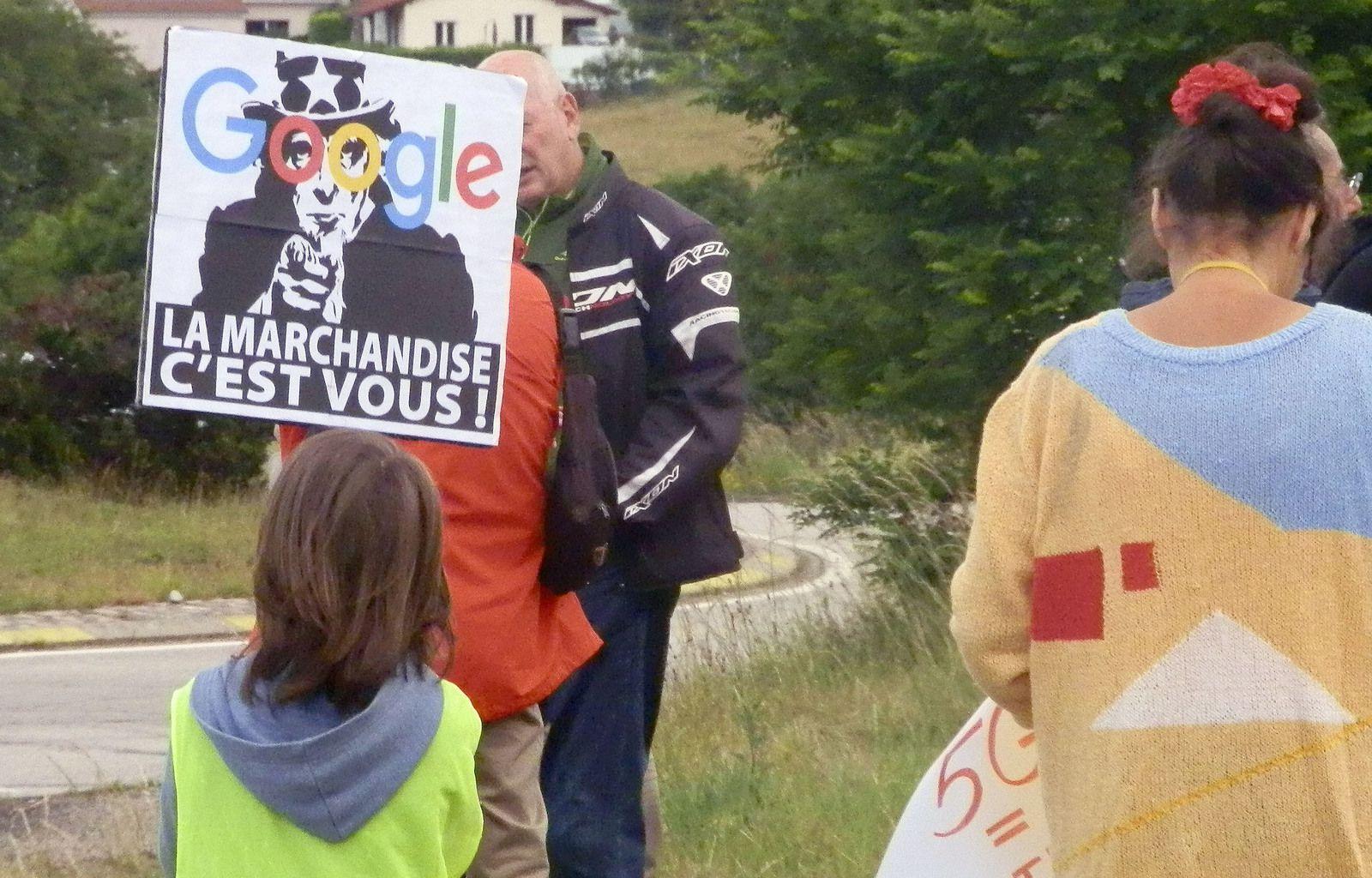 Rassemblement contre la 5G à Monistrol en Haute-Loire en juin 2020