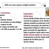 Chili con carne express weight watchers une recette cookeo |