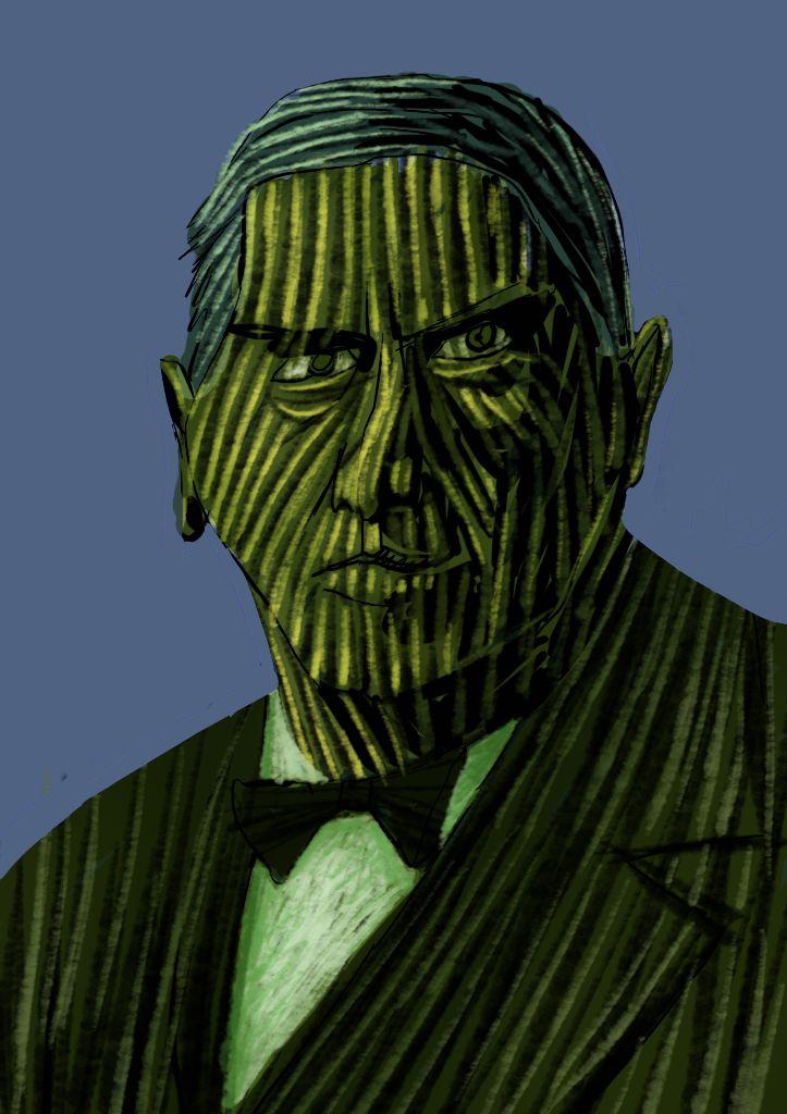 Portrait dessin trame tablette graphique