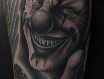 clown tattoo by rox-d