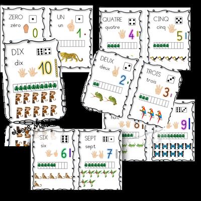 Maths : les différentes représentations du nombre avec les animaux