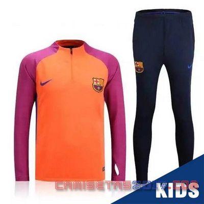 Comprar 2017 camiseta de futbol baratas €14.9!!| Chandal Conjuntoniño Barcelona2016 2017 naranja