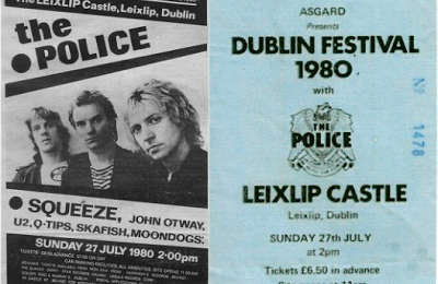 U2 -Early Days -27/07/1980 -Dublin -Irlande -Leixlip Castle