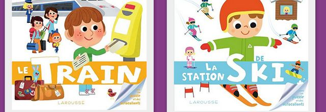 Ma baby encyclopédie : Le train et Le station de ski.