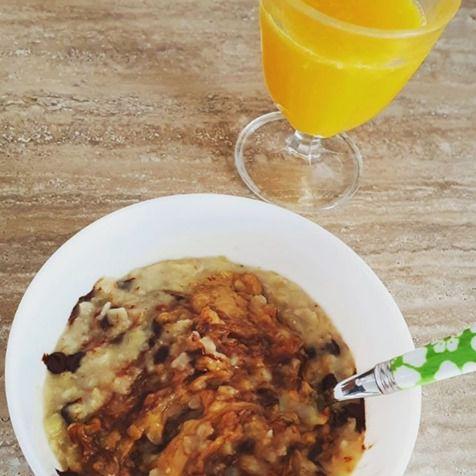 Porridge super crémeux beurre de cacahuète et pépites de chocolat noir