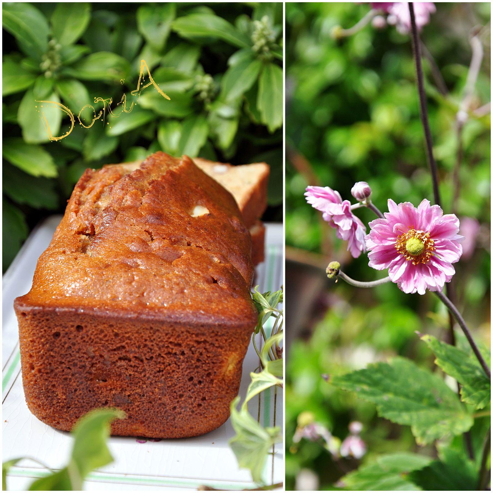 Cake à la poire, noisettes et Rhum